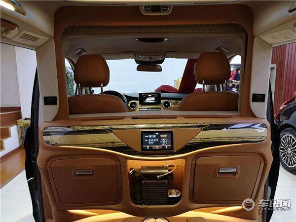 上海奔驰V260加长高顶商务车升降电视按摩座椅 国六 最新优惠价格