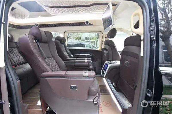 上海奔驰V260L加长2020款商务车 高顶豪华紫 最新价格促销