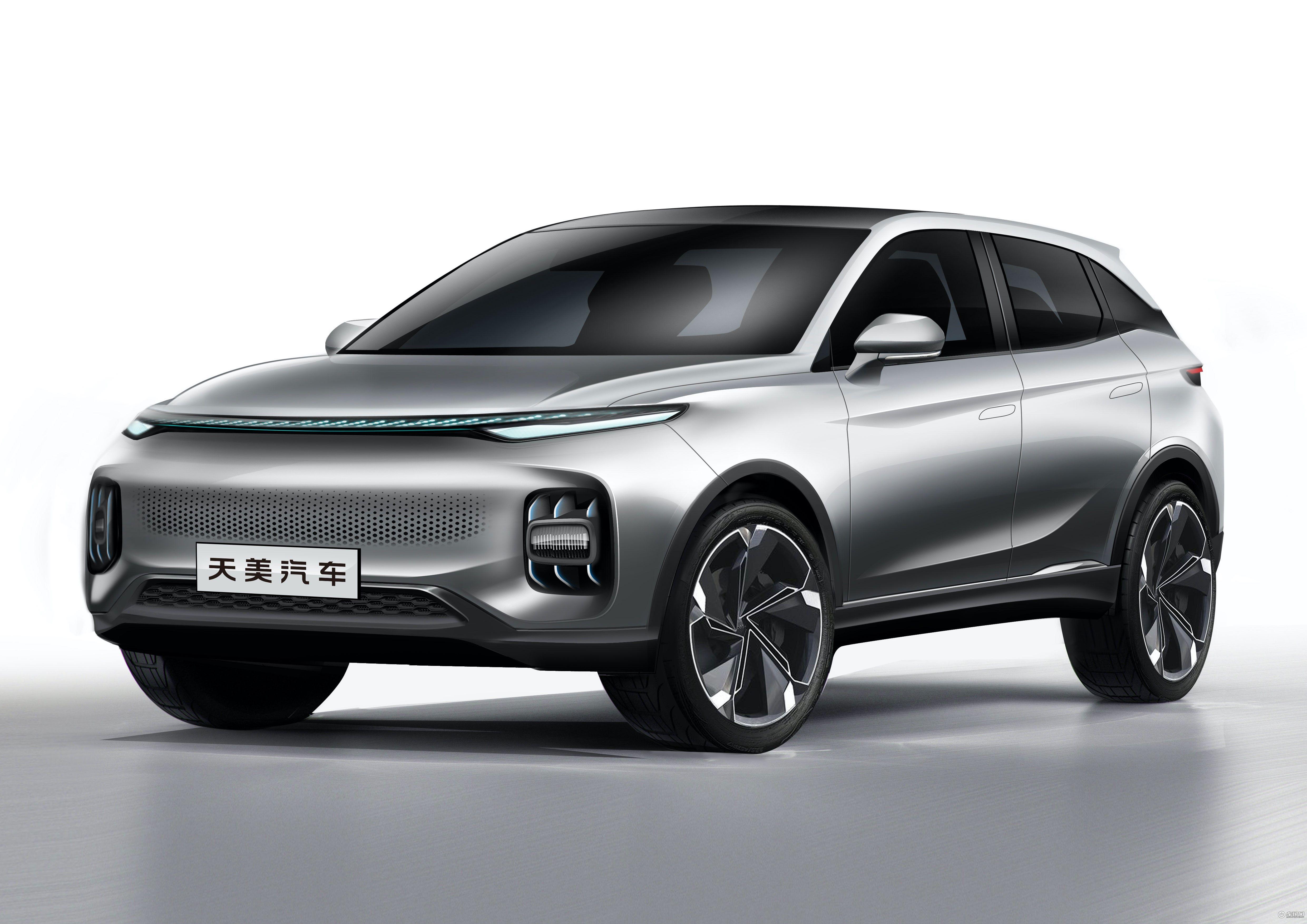 造車新品牌又添一員 天美汽車發布車標和首款車型