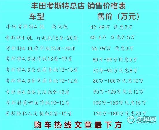 济宁丰田考斯特12座多少钱考斯特12座本地价格