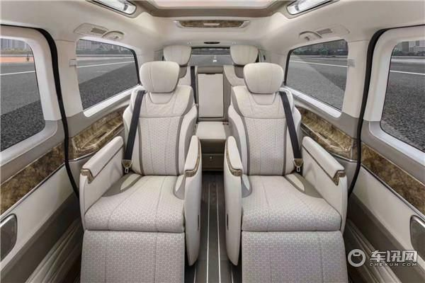 上海金冠奔驰V-Class高顶半隔断款商务车,价格配置表
